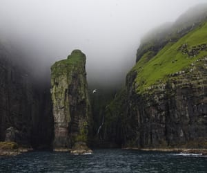 nature, cliff, and sea image