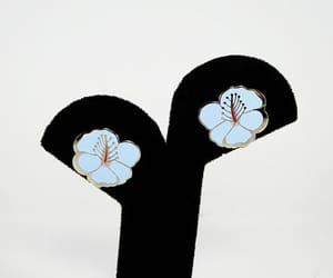 etsy, stud earrings, and blue enamel image