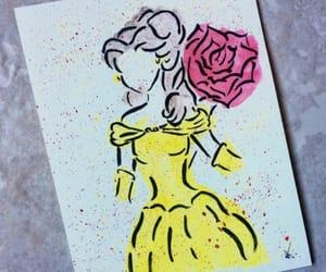 art, belle, and disney image