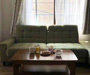 food, interior, and sofa image