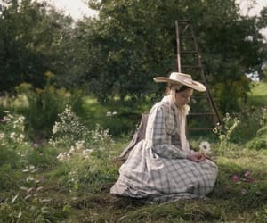 belle epoque, gingham, and nature image