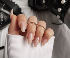beauty, nails, and french manucure image
