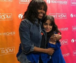 michelle obama and camila cabello image