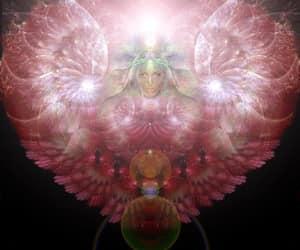 fractal angel heart and goddess angel light image