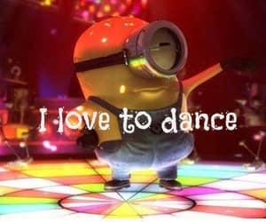 i love to dance and minion disco dance image