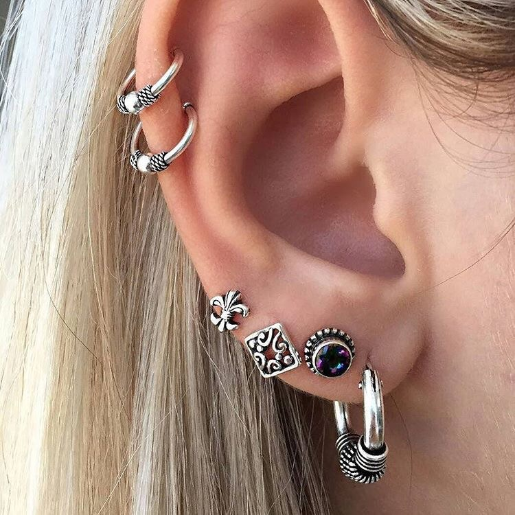 accessories, fashion, and piercing image