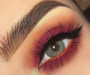 girl, makeup, and eyeshadow image