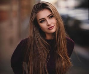 beauty, brown hair, and teens image