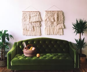 couch, green, and sofa image