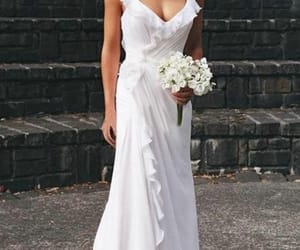 a-line, bridal, and dresses image