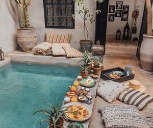 pool, food, and breakfast image