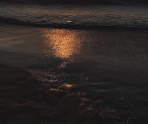 beach, dark, and gold image