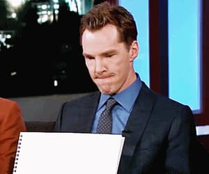 actor, gif, and benedict cumberbatch image