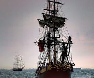 pirate, ocean, and sea image