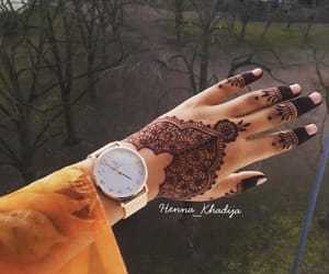 art, henna, and tatoo image