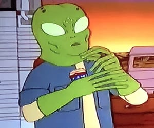 alien, cartoon, and King of the Hill image