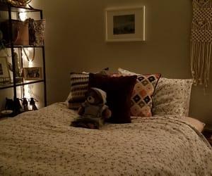 bedroom, bedroom decor, and hippie image