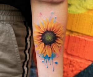 art, tattoo, and floral tattoo image