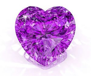 gems, heart, and purple image