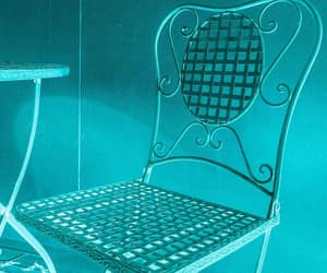 blue, chair, and turquoise image