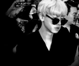 black and white, cool, and exo image