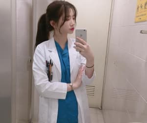 doctor, girl, and medical image