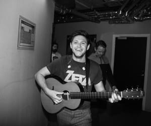 black and white, concert, and smile image