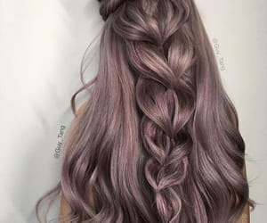 braids, hair, and purple image