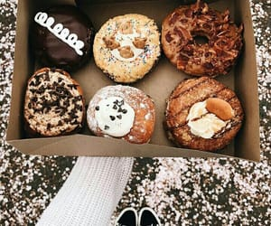 chocolate, coffee, and donuts image