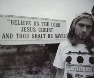 kurt cobain, nirvana, and jesus image