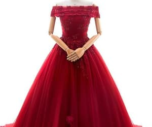 ball gown, dress, and red image