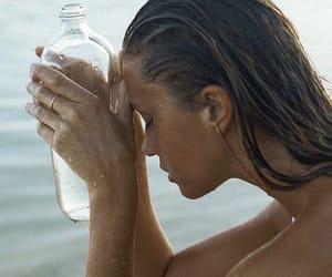 beach, woman, and beauty image