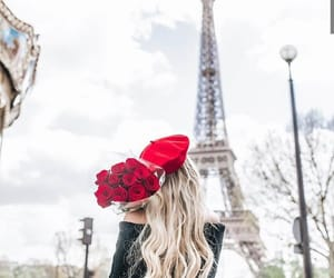 beret, skirt, and blonde image