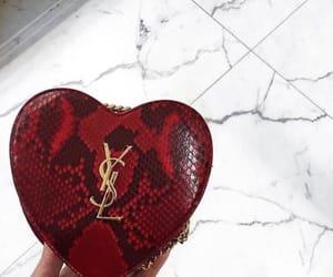 bag, heart, and saint laurent image