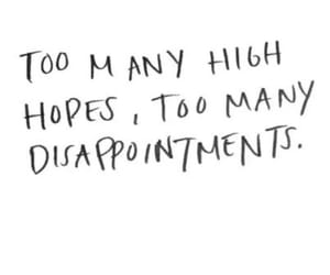 hope, disappointment, and quotes image