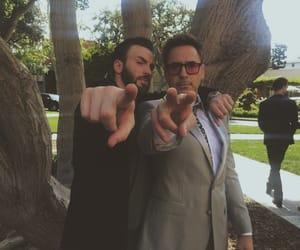 chris evans, robert downey jr, and Avengers image