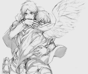couple, yaoi, and snk image