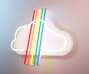 aesthetic, cloud, and neonlights image