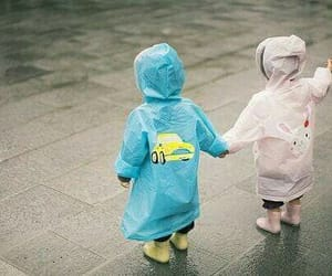 cute, kids, and rain image