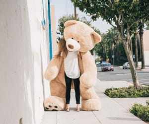 girl, teddy, and bear image