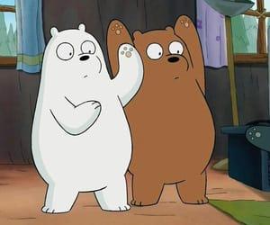 cartoon, cartoons, and ice bear image