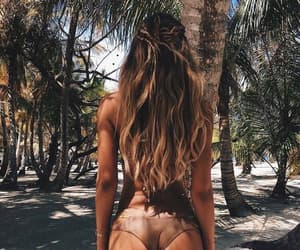 ass, girl, and palm trees image