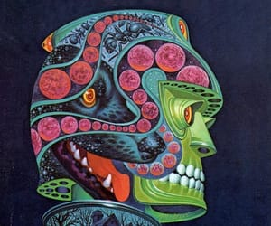 art, illustration, and psychedelic image