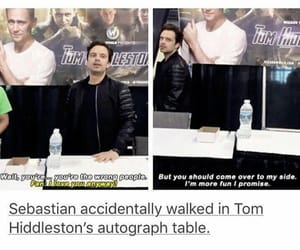 sebastian stan, Marvel, and tom hiddleston image
