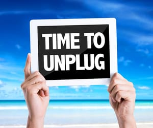 social media, technology, and unplugged image