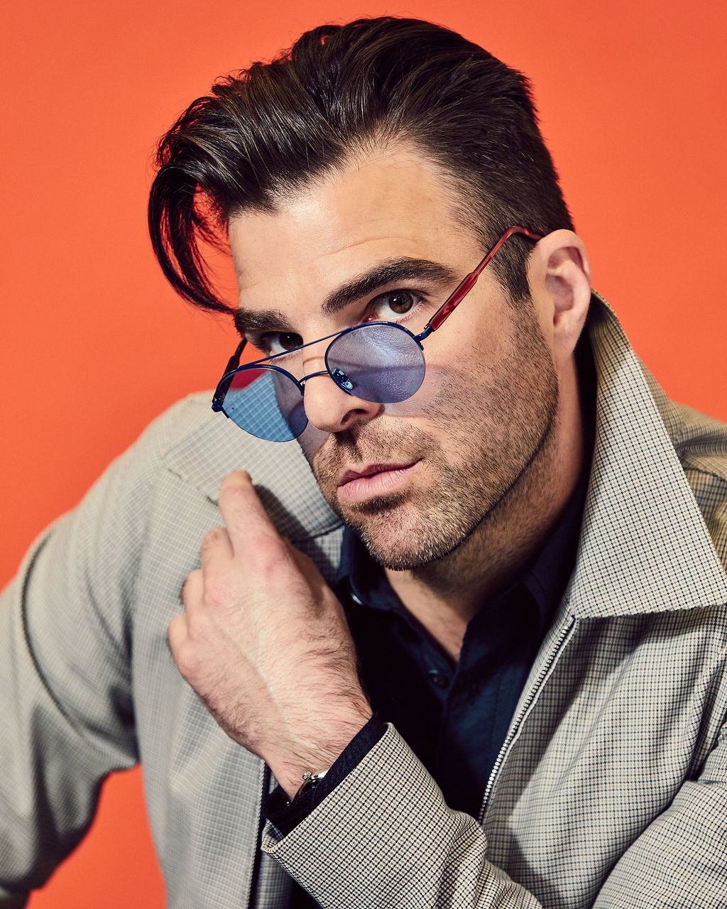 actor, funny face, and zachary quinto image