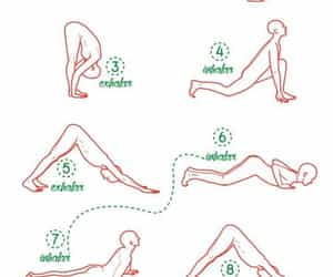 exercise, sun, and yoga image