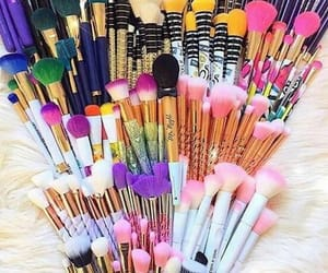 Brushes, love, and girl image