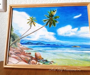 art gallery, art work, and seascape image