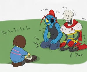 papyrus, undyne, and frisk image